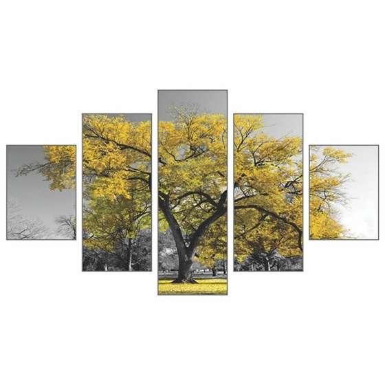 Quadro Arvore Amarela Decorativo