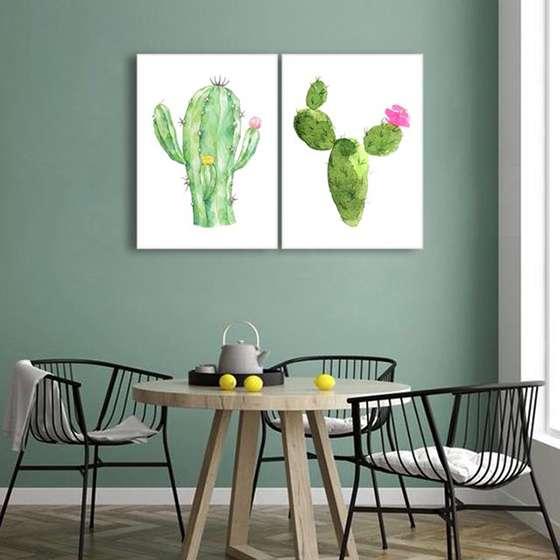 Quadro cactos planta verde para decoração