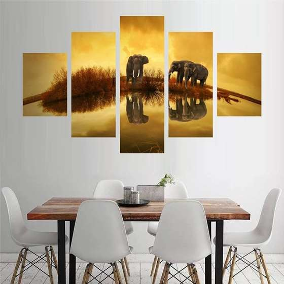 Quadro elefante animal decorativo