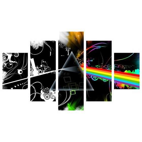 Quadro Capa CD Pink Floyd Decor Banda Música