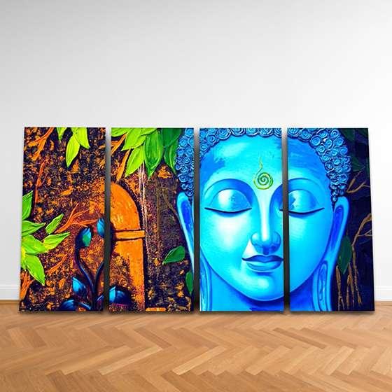 Quadro Buda colorido decorativo