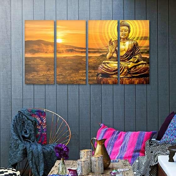 Quadro Buda dourado decorativo