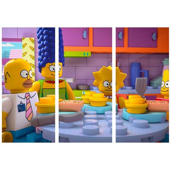 Quadro infantil lego os simpsons