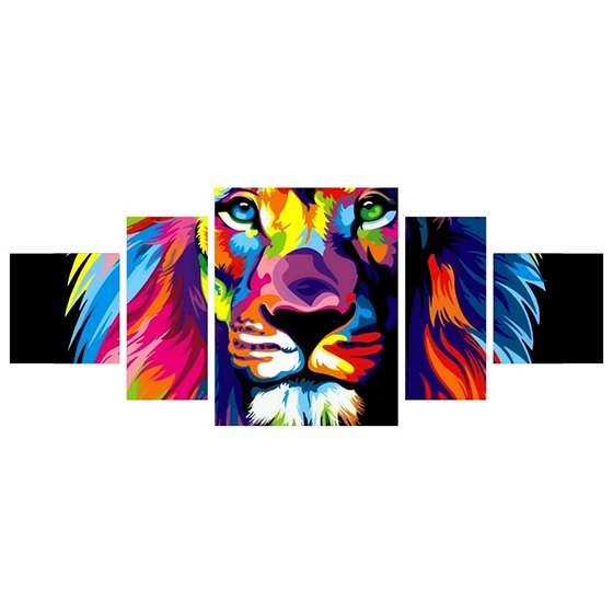 Quadro Leão Colorido Decor