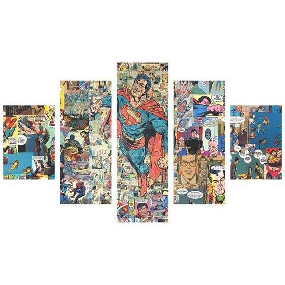 Quadro Super Homem quadrinhos