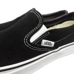 Tênis Vans Classic Slip On Black White