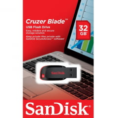 Pen Drive Sandisk Cruzer Blade Usb Flash Drive 32gb