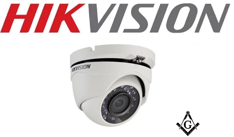 Câmera de segurança infra vermelho dome Hikvision DS-2CE56D0T-IR infra vermelho 2 Megapixel 20m IR 1080P resolution lente 2.8MM