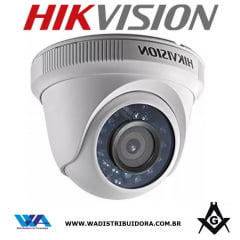 Camera de segurança infra vermelho dome Dome Hikvision Ds-2ce56c0t-irmf lente 3,6mm 4 em 1 tvi/ahd/cvi/cvbs