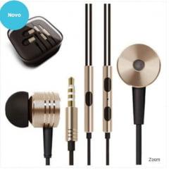 Fone de Ouvido Metalizado com Microfone