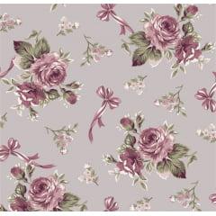 Floral Fiori Cinza Of