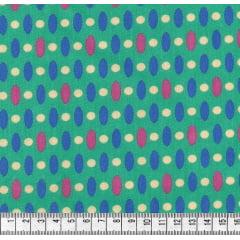 Geométrico Azul e Pink com Fundo Verde