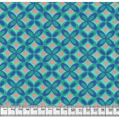 Geométrico Colorido com Bola Laranja