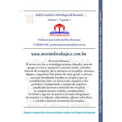 ANÁLISE SINTÁTICA E MORFOLÓGICA DE ROMANOS