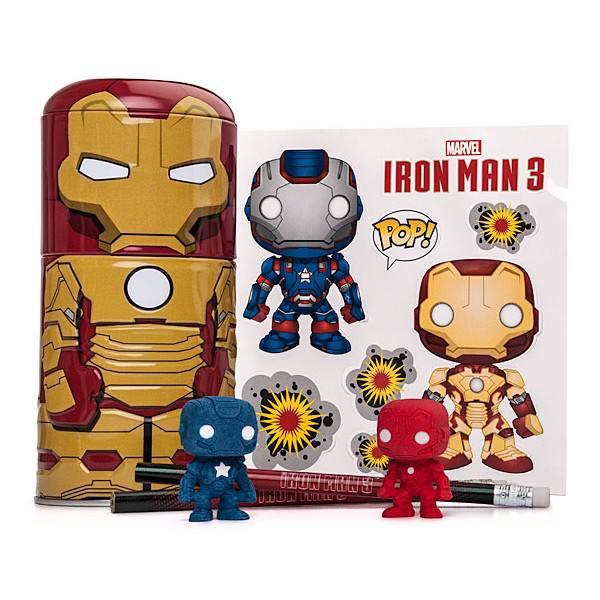 Tin Tastic - Iron Man 3 - Contém estojo, 2 lápis, 2 borrachas e adesivos