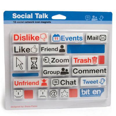 Kit de Imãs Social Talk