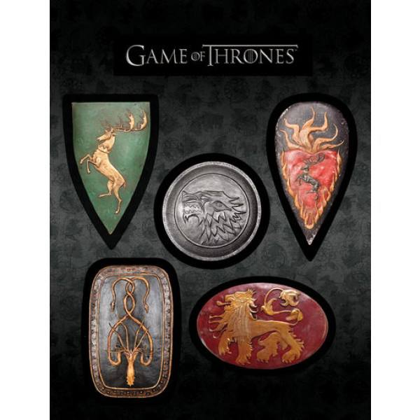 Game of Thrones - kit com 5 imãs magnéticos