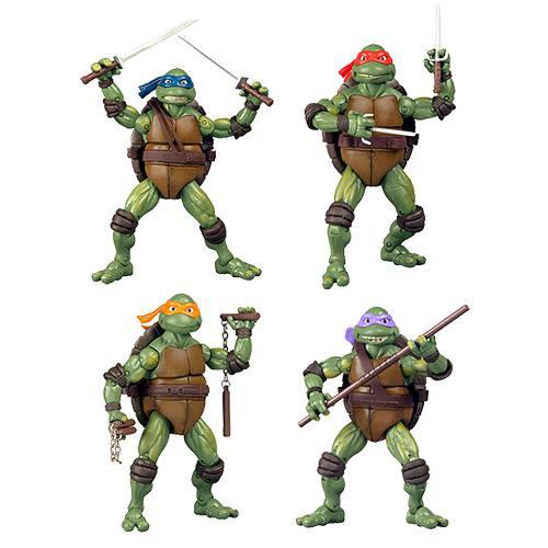 As Tartarugas Ninjas - 1990 Movie - Coleção com 4 personagens