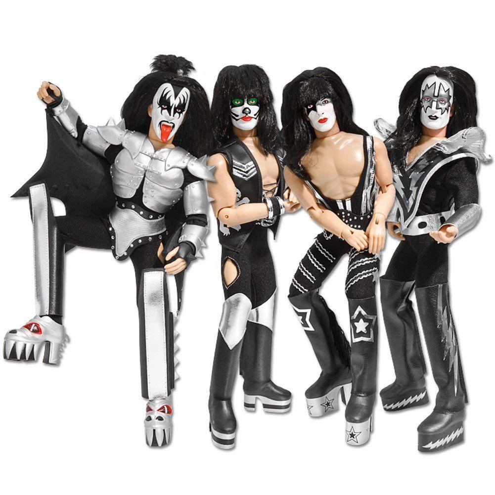KISS Action Figure - kit com os 4 integrantes da banda - 20 cm