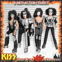 KISS Action Figure - kit com os 4 integrantes da banda - 20 cm