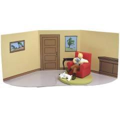 Tintin Box Scene - Tintin sentado na poltrona