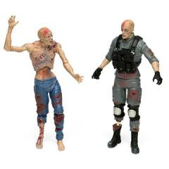 Guerra Mundial Z - Special Forces Zombie e Civilian Zombie - Series 1 com 2 figuras