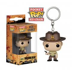 POP! Funko Chaveiro - The Walking Dead - Rick Grimes