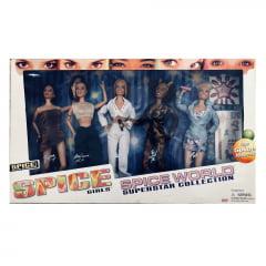 Spice Girls - Kit com 5 bonecas - Victoria - Mel C -  Geri - Mel B - Emma - Edição 1998