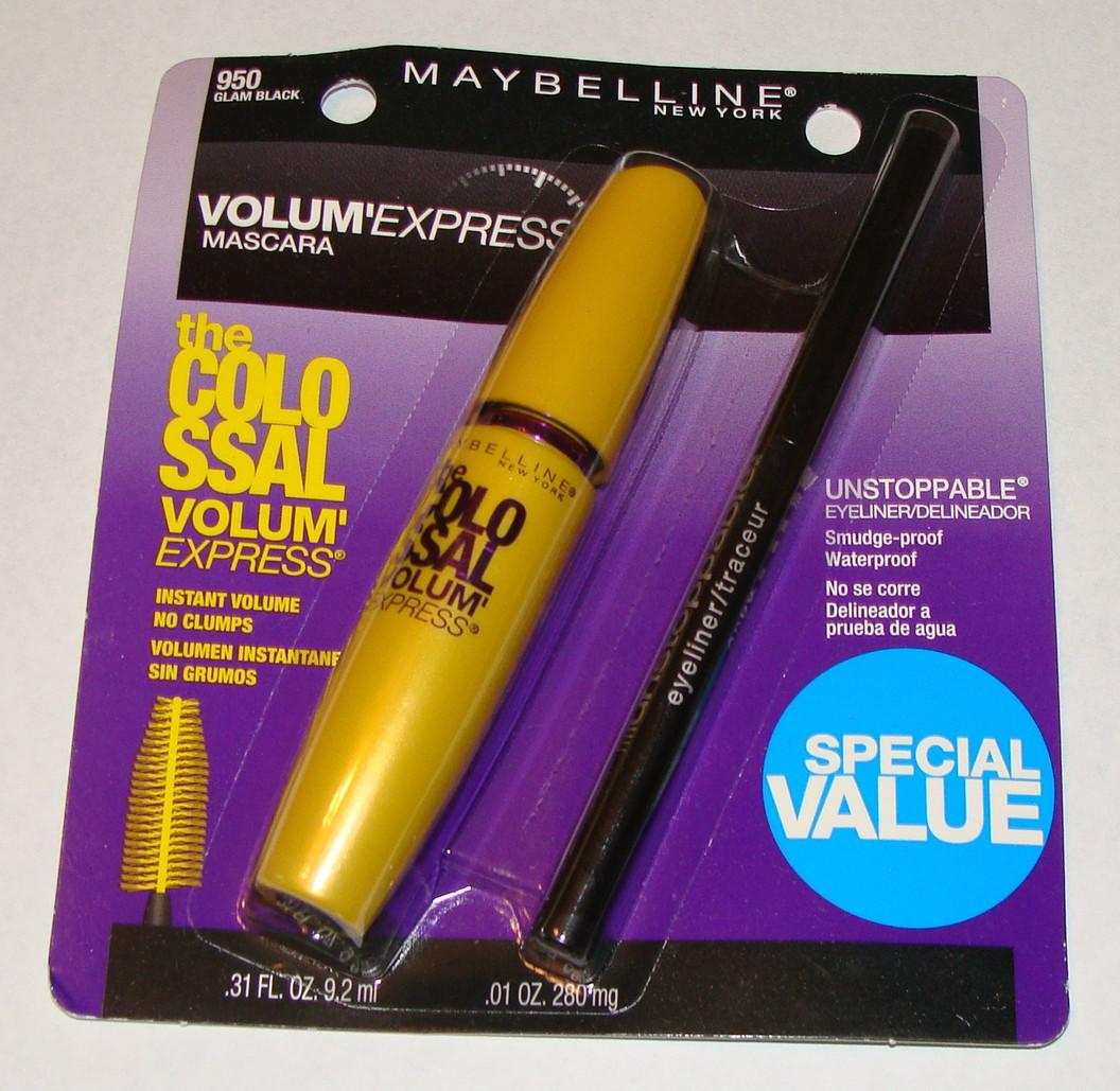 8579a4e15 Mascara Maybelline Colossal Volum Express + Lapis Delineador olhos  Maybelline Preto