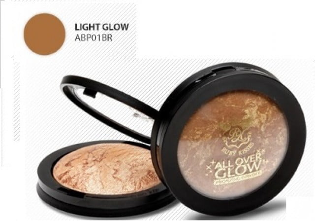 PÓ BRONZEADOR ALL OVER GLOW BRONZING POWDER LIGHT GLOW FLUSHEDRUBY KISSES