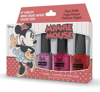 KIT ESMALTES MINNIE MOUSE