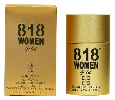 PERFUME LONKOOM 818 WOMEN GOLD EDT 30ML