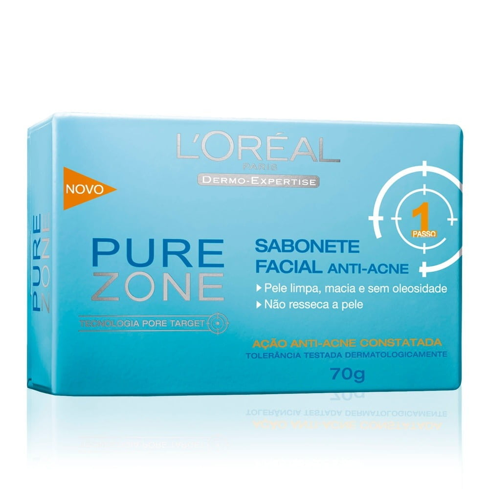 SABONETE FACIAL ANTI-ACNE PURE ZONE DERMO EXPERTISE - L'ORÉAL PARIS