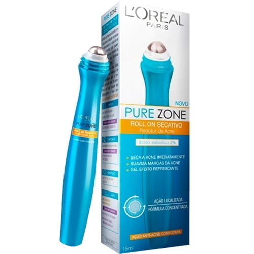 GEL SECATIVO ROLL ON PURE ZONE DERMO EXPERTISE - L'ORÉAL PARIS