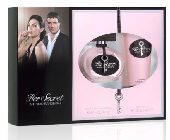 CONJUNTO HER SECRET FEMININO – EDT  80ML + BODY LOTION 100ML – ANTONIO BANDERAS