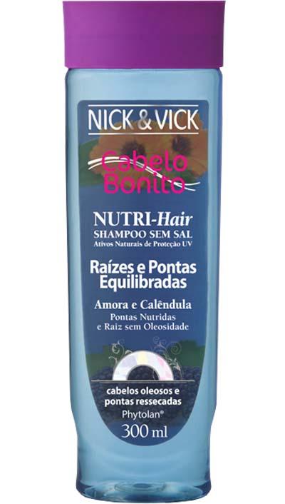 SHAMPOO CABELOS MISTOS NUTRI HAIR RAIZES E PONTAS EQUILIBRADAS -  NICK & VICK