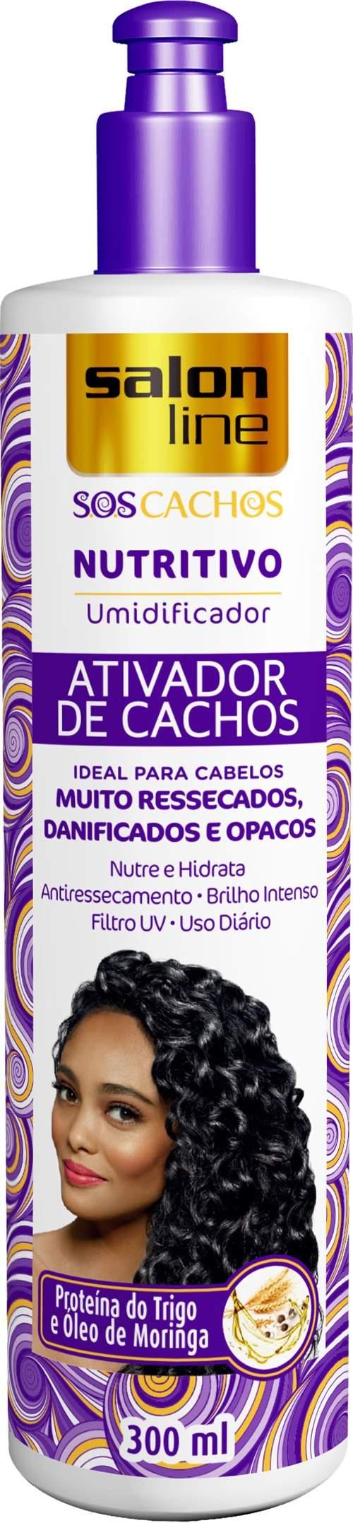 ATIVADOR DE CACHOS SALON LINE – UMIDIFICADOR NUTRITIVO - SALON LINE