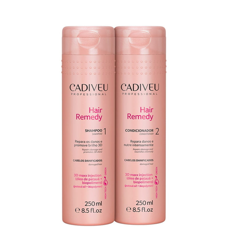 CADIVEU HAIR REMEDY – KIT CADIVEU SHAMPOO + CONDICIONADOR – CADIVEU