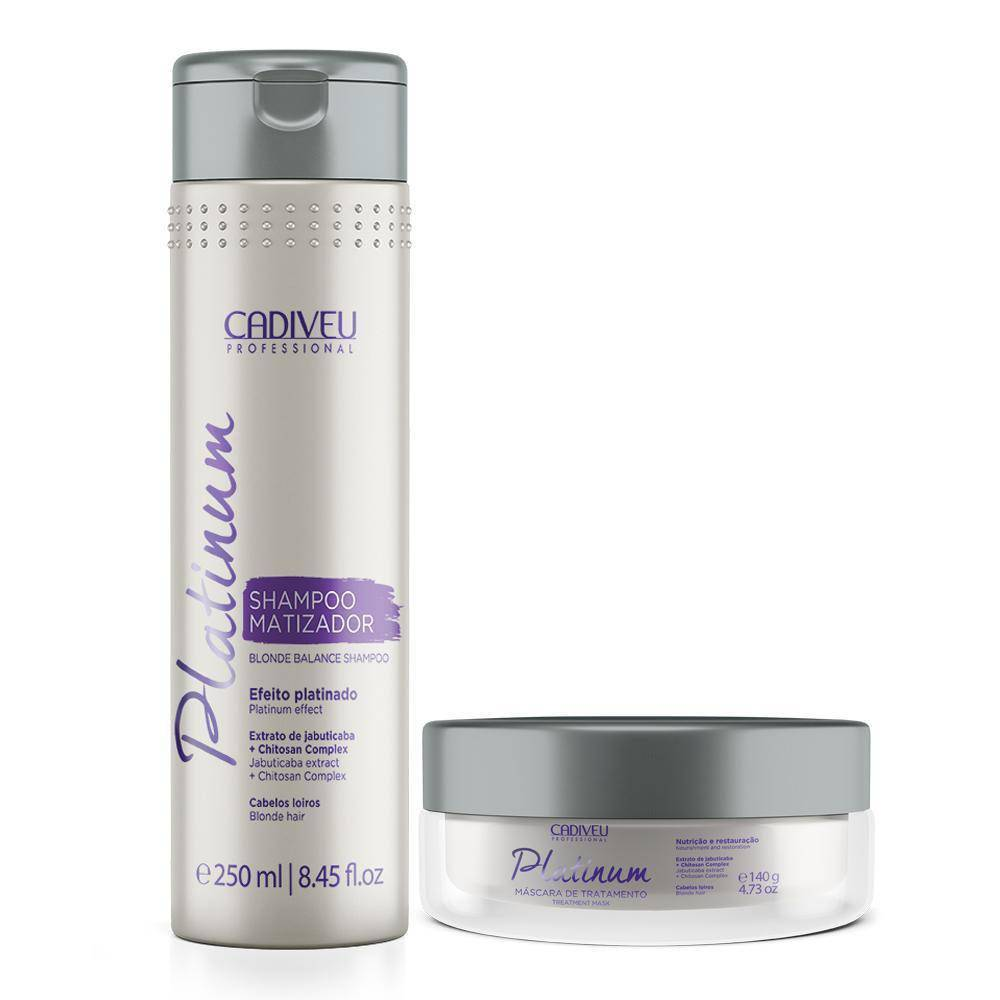 Cadiveu Platinum - Shampoo + Máscara Matizante - Cadiveu Professional