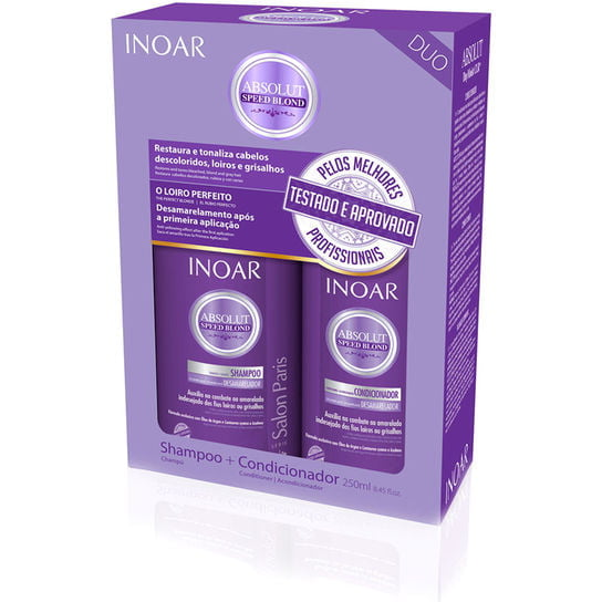 INOAR ABSOLUT SPEED BLOND - DUO VIOLET SHAMPOO + CONDIOCIONADOR - INOAR