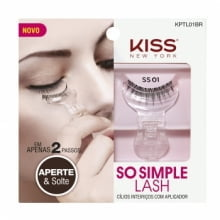 KISS NEW YORK - SO SIMPLE LASH - CÍLIOS INTEIRIÇOS COM APLICADOR SS01 - KISS NEW YORK