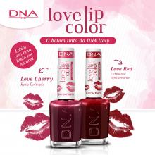 BATOM TINTA - LOVE LIP COLOR – KIT LOVE RED E LOVE CHERRY– DNA ITALY