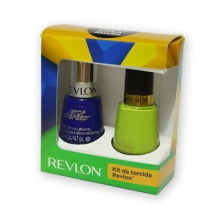 KIT ESMALTES REVLON TORCIDA COPA DO MUNDO - SASSY + TOP SPEED ROYAL.