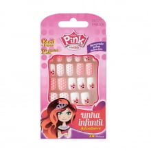 Unhas Postiças Infantil – Pink By Kiss – Ursinho