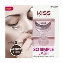 KISS NEW YORK - SO SIMPLE LASH - CÍLIOS INTEIRIÇOS COM APLICADOR SS02 - KISS NEW YORK