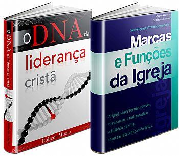 O DNA da Liderança Cristã + Marcas e Funções da Igreja de R$ 41,40 por