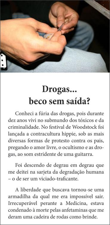 Folhetos para evangelismo - Drogas... beco sem saída? - 6001
