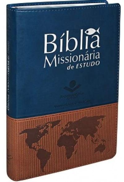 BIB. MISSIONÁRIA DE ESTUDO CAPA AZUL/MARRON - COD 01167