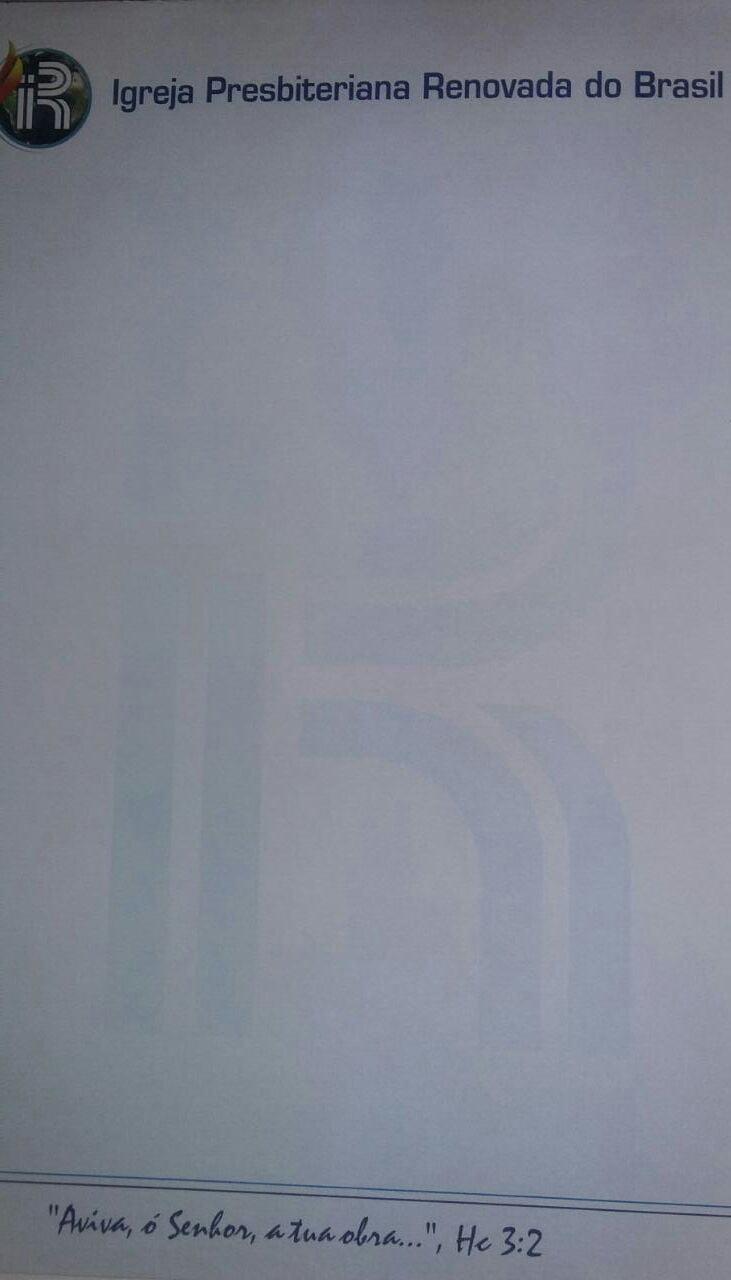 Bloco de carta Ofício com logo IPRB