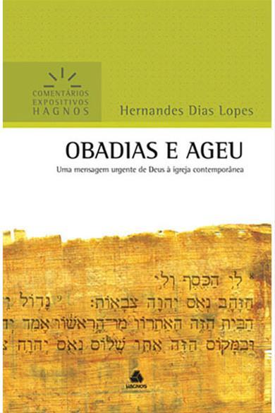 COMENTÁRIOS EXPOSITIVO HAGNOS - OBADIAS E AGEU - COD 1497